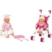 Loko lutka Beba 37 cm Set sa kolicima i nosiljkom 98120