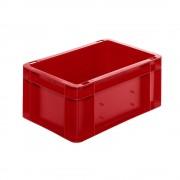 Euro-Format-Stapelbehälter, Wände und Boden geschlossen LxBxH 300 x 200 x 145 mm rot, VE 5 Stk