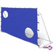 vidaXL Gol s mrežom i metama za vježbu, 240 x 92 x 150 cm