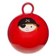 Geen Skippybal rood met piraat 45 cm voor jongens