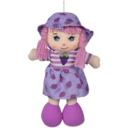 Ultra Cute Hanging Baby Doll Soft Toy Purple 10 inches