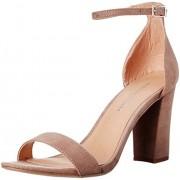 Madden Girl Women's Beella Dress Sandal, Dark Taupe, 6.5 M US