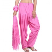 Jaipurkurti Pure Cotton Baby Pink Patiala Salwar and Dupatta Set