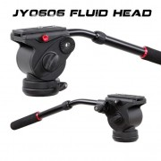 JieYang JY0606H Fluid Drag Video Tripod Head Flat Base ( 6Kg )