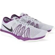 Nike WMNS NIKE DUAL FUSION TR HIT Training & Gym Shoes For Women(Grey, Purple)