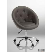Elegáns guruló bárfotel, kozmetikus szék, fodrász szék, fekete