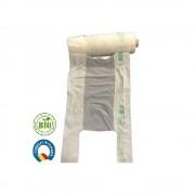 Set 6 Role Pungi Biodegradabile Albe in Rola, 22x6x50 cm, Rezistenta 4-5 Kg, Grosime 18 MIC, 200 Buc/Rola - Sacose Ecologice in Rola