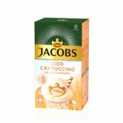 Mix de cafea, Jacobs Iced Cappuccino Salted Caramel, 8 plicuri x 17.8 g