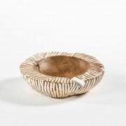 Decoratiune, Vas decorativ din lemn Bowl 30, natur/ alb 20600/00 TN