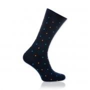 Șosete bărbătești Willsoor 8730 în culoarea negru, cu model cu puncte