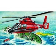 U.S.C.G. HH65-A Dolphin Search and Rescue Helicopter 1-48 by Trumpeter