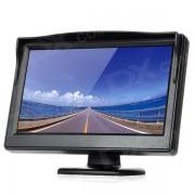 """Monitor de seguridad del soporte de vision trasera del coche con pantalla LED de 5.0 """"- negro (480 x 234 pixeles)"""