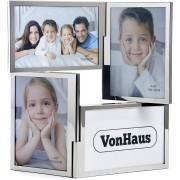 VonHaus okvir za fotografije za 4 slike srebra 10x15cm