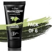 VI-JOHN Master Stroke Men Hair Removal Cream Olive 60GM Pack of 6