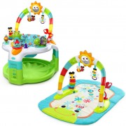 Bright Starts Activity Gym and Saucer Laugh & Lights Green K60539