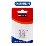 Marlin Metal Sharpener 2 hole-Single pack, Retail
