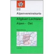 Deutscher Alpenverein - Allgäuer-Lechtaler Alpen - Ost: Topographische Karte 1:25000 - Preis vom 18.10.2020 04:52:00 h