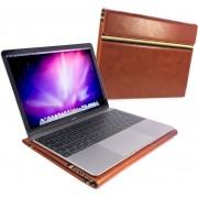 Alston Craig Vintage Leren Werkmap Laptoptas voor Apple Macbook 12 - Bruin