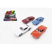 """NEW DIECAST TOYS CAR WELLY 5"""" DISPLAY 1969 PONTIAC GTO SET OF 4 WITHOUT RETAIL BOX 43714D"""