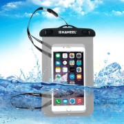 HAWEEL Transparent Universal Waterproof Bag with Lanyard for iPhone 7 Plus / iPhone 7 / iPhone 6 & 6 Plus / 6S & 6S Plus Samsung Galaxy S6 / S5 / Note 5(Black)