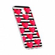 Husa Silicon Transparent Slim Red Heart 102 Motorola MOTO G6 PLUS