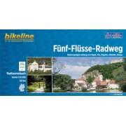 Fietsgids Bikeline Fünf Flusse   Esterbauer