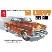 AMT 1951 Chevy Bel AIr 1/25 Model Kit Build Stock or Drag