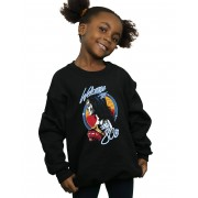 Absolute Cult DC Comics Girls Wonder Woman 84 Bienvenue au sweat-shirt des années 80 Noir 12-13 years