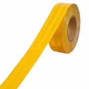 RE-FOX Car Reflective Material Tape 2 inch x 5 Meter Length (Color Yellow)