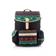 Shaun Design Women's Black Jacquard Backpack with Laptop Protection
