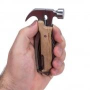 Kikkerland 10-in-1 hamer van hout - Hout