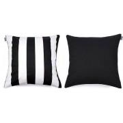 We Love Beds Poszewka dekoracyjna Belts 60 x 60 cm czarna