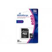 Mediarange Micro SDHC 16GB CL10 + adapter memóriakártya