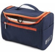 Styleys Hanging Fabric Travel Toiletry Bag Organizer and Dopp Kit storage Bag (Navy Blue) Travel Toiletry Kit(Blue)