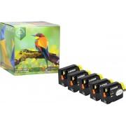 Ink Hero - 5 Zwarten - Inktcartridge / Alternatief voor de HP Officejet 932 933 CN053AE CN057AE CN054AE CN055AE CN056AE 6100 6600 6700 7110 7510 7610 7612
