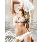 Baci White Dot Frilled Bikini Set 795