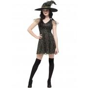 Vegaoo.es Disfraz bruja con estrellas doradas mujer Halloween - M