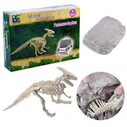 Inditake Learning Kit for Children Creative Dinosaur Archaeology Excavation Toys Dinosaurs Educational Activity Kit for Kids (Parasaurolophus)
