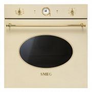 SMEG SFP805P 60 cm Multifunktionsugn Med Pyrolys Gräddfärgad Med Beslag I Guld Energiklass: A