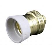 Lampenfassung E27 HBF 140524 Metall und Kreamik Leuchtmittelfassung mit Kragen Farbe gold-weiß.