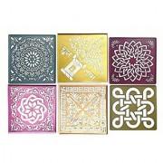 Rangoli Stencils Big Size 12 12 Assorted Designs Set Of 6 Used For Marble Burada Rangoli