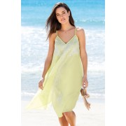 Capture Swimwear Trapeze Embroidery Cover up - Lime - Womens