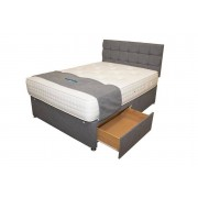 NCF Furnishings Ltd £429 (from NCF Living) for a double cashmere storage bed with divan base with two drawers and 1000 pocket spring mattress!