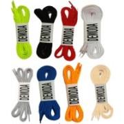 DE'MODA Flat (Pack of 8-Beige,Neongreen,Black,White,Grey,Blue,Orange,Red) Shoe Lace(Multicolor Set of 8)