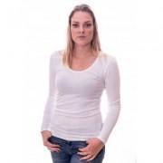 Claesens Women T-shirt o-neck longsleeve White ( 8016) - Wit - Size: Small