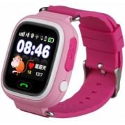 Ceas Smartwatch cu GPS Copii iUni Kid100 Touchscreen Bluetooth Telefon incorporat Buton SOS Roz Bonus Bratara Roca Vulcanica unisex