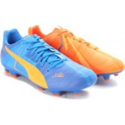 Puma evoPOWER 3 H2H FG Football Studs(Orange, Blue)