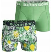 Bjorn Borg Boxershorts 2-Pack Lemon - Grün Größe S