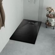 vidaXL Sprchová vanička, SMC, čierna 80x80 cm