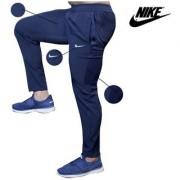 Nike Navy Polyester Lycra Running Trackpant For Men